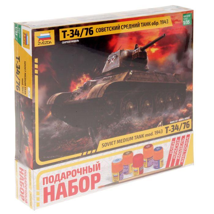 """Сборная модель """"Советский танк Т-34/76"""""""