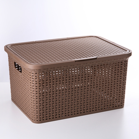 Корзина для хранения «Артлайн», 30 л, 46×34×25 см, цвет МИКС