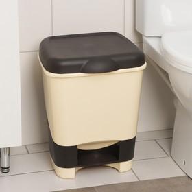 Контейнер для мусора с педалью, 20 л, цвет МИКС