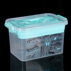Контейнер для хранения с крышкой и вкладышем Полимербыт «Важные мелочи», 6,5 л, 27,5×30×19,5 см, цвет МИКС - фото 308334895