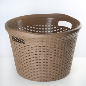 Корзина для белья Полимербыт «Артлайн», 32 л, 45×45×30 см, цвет МИКС