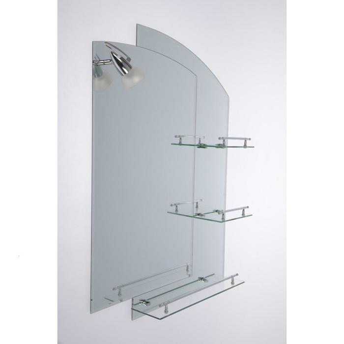 Mirror in the bathroom, two-layer 80 × 60 cm Assona A613, 3 shelves.