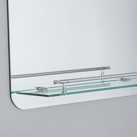 Зеркало в ванную комнату Ассоona, 600 х 450 мм, A628, 1 полка