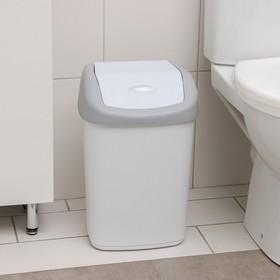 Контейнер для мусора с крышкой, 14 л, цвет МИКС
