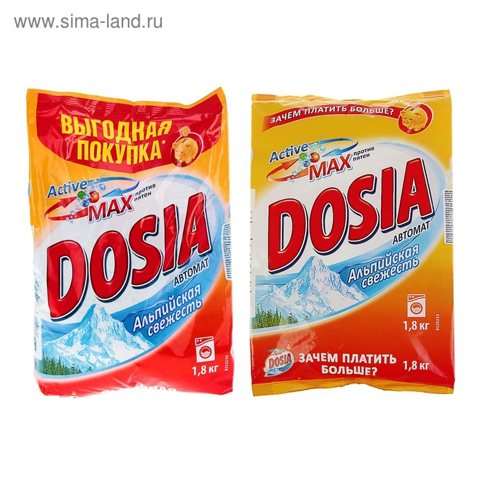"""Порошок стиральный Dosia """"Альпийская свежесть"""", автомат, 1,8 кг"""