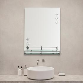 Зеркало в ванную комнату Ассоona A616, 600 х 450 мм, 1 полка