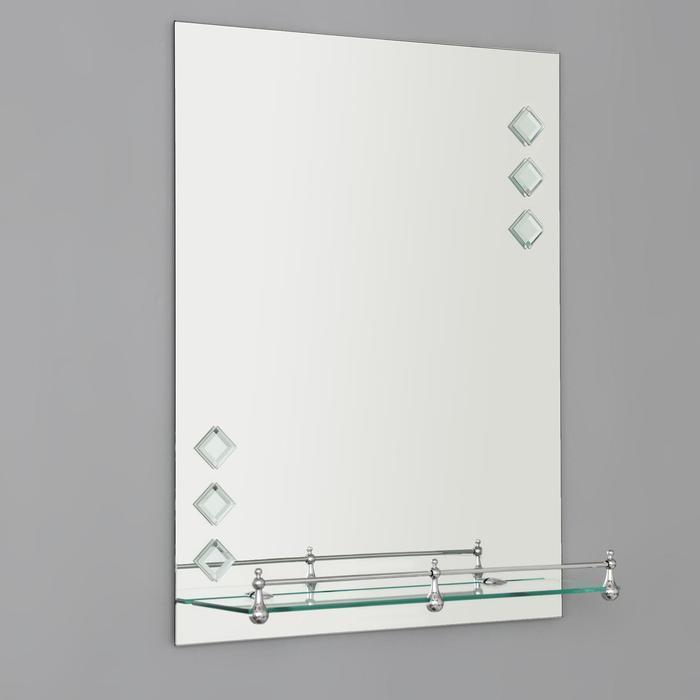 Зеркало в ванную комнату 60×45 см Ассоona A616, 1 полка