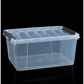 Контейнер для хранения с крышкой «Профи», 15 л, 40×29×18 см, цвет МИКС
