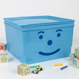 Ящик детский Полимербыт «Улыбка», 15 л, цвет МИКС