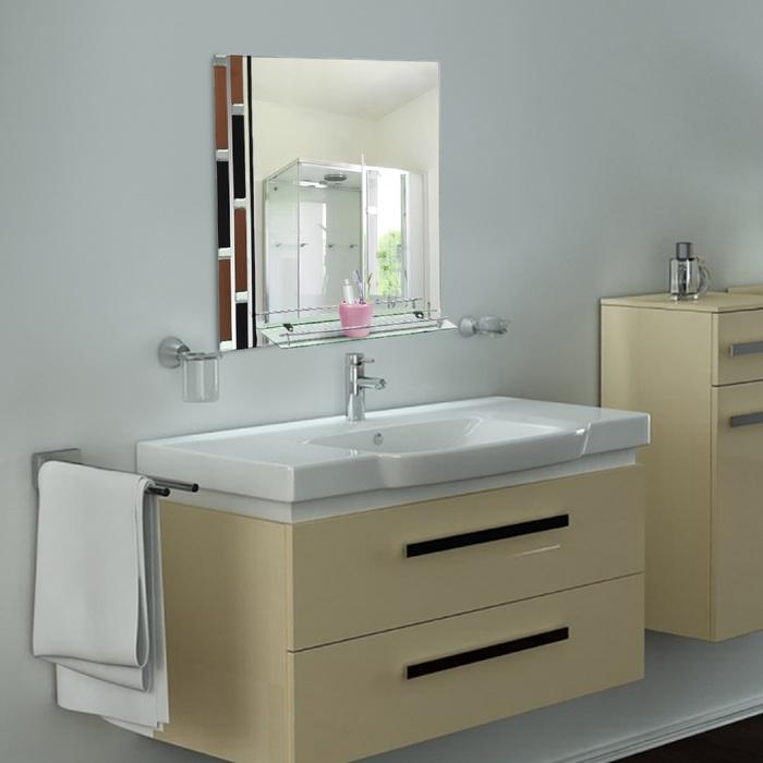 Зеркало в ванную комнату 80×60 см Ассоona A608, 1 полка