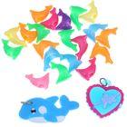 """Подвески для плетения резиночками 20 шт пластиковых и 2 резиновых """"Дельфин, сердечко"""""""