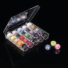 Набор шпулек с нитками в пластиковой коробке, 25шт, цвет МИКС
