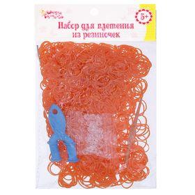 Clip for weaving orange, set of 1000 PCs, hook fastening, Hoop