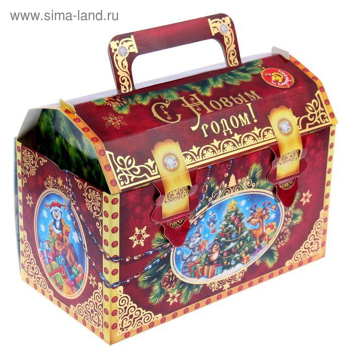 """Коробка складная с объемной открыткой """"Ларец"""""""