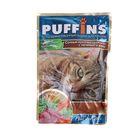 """Влажный корм """"Puffins"""" для кошек, сочные кусочки телятины с печенью в желе, пауч, 100 г"""