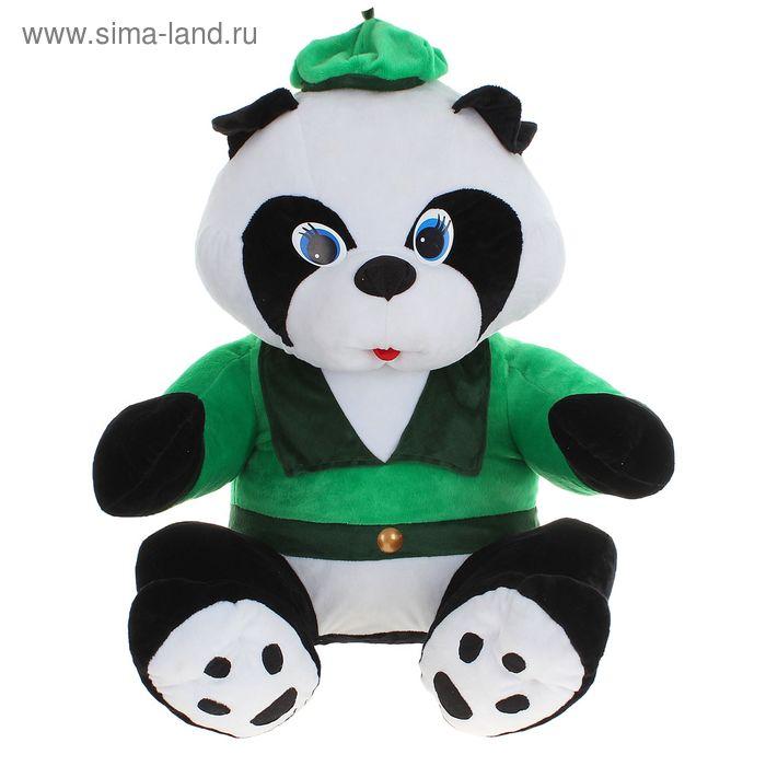 """Мягкая игрушка """"Панда большая в костюме"""", цвет зелёный"""