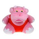"""Мягкая игрушка """"Бегемот большой"""", цвет розовый"""