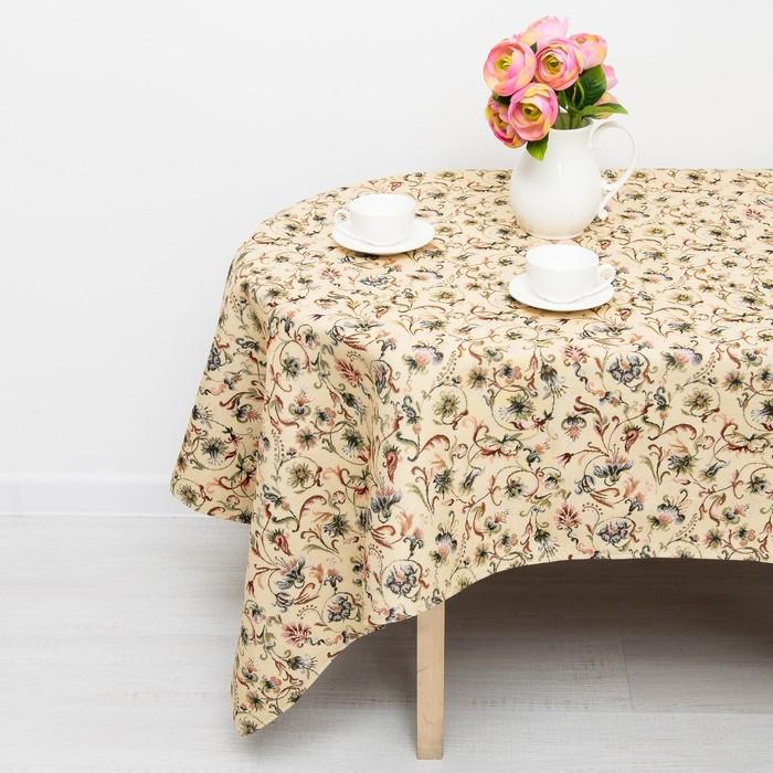 Скатерть из гобелена Dekortex Английские цветы, 140*160 см