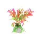 Растение искусственное аквариумное Ротала круглолистная, 10 см, красная
