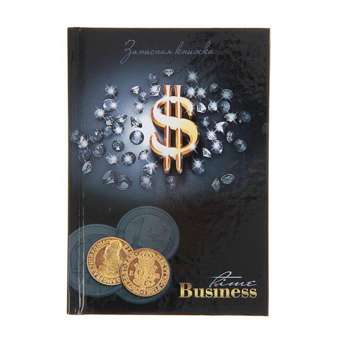 """Записная книжка твёрдая обложка А6, 64 листа """"Золотые монеты"""", глянцевая ламинация"""