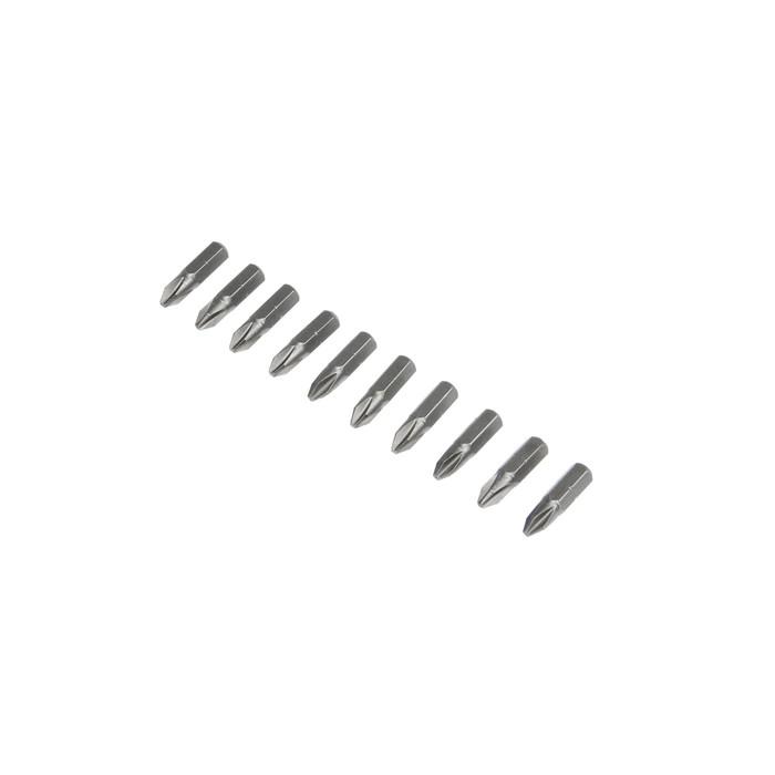 Биты TUNDRA, намагниченные, сталь S2, PH2 х 25 мм, 10 шт.