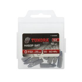 The TUNDRA basic bit set, S2 steel, 10 PCs, 25 mm, PZ2