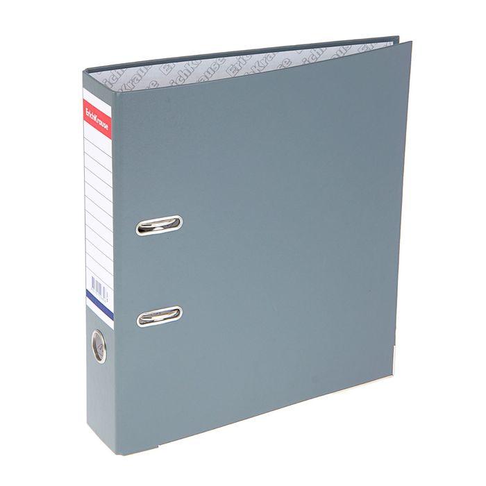 Папка-регистратор А4, 70 мм, «Стандарт», разборный, серый, этикетка на корешке, металлический кант, картон 2 мм, вместимость 450 листов