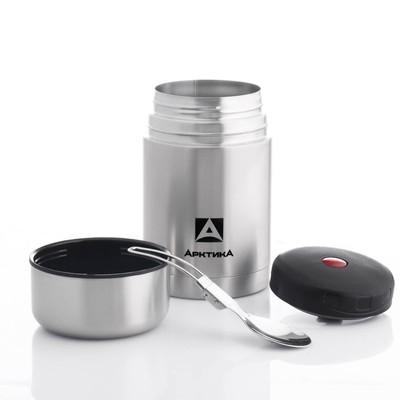 """Термос для еды """"Арктика"""", 750 мл, вакуумный, с широким горлом, в чехле, микс"""