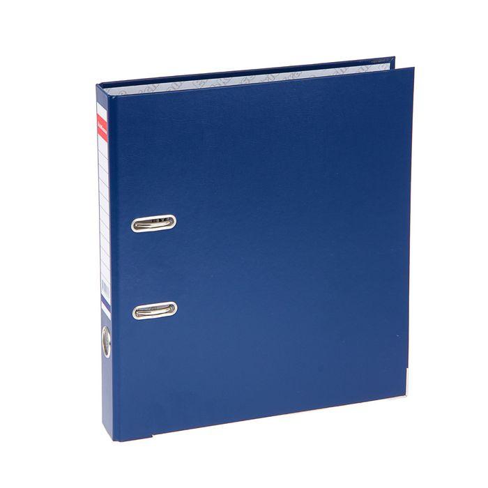 Папка-регистратор А4, 50 мм, «Стандарт», разборный, синий, этикетка на корешке, металлический кант, картон 2 мм, вместимость 350 листов