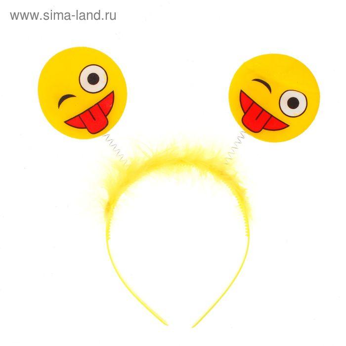 """Карнавальный ободок """"Смайлик"""" подмигивает"""