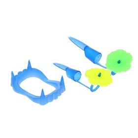 Набор «Челюсть», с когтями, цвета МИКС Ош