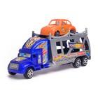 Грузовик инерционный «Автовоз», с машинкой, цвета МИКС - фото 105657994