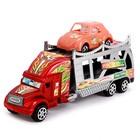 Грузовик инерционный «Автовоз», с машинкой, цвета МИКС - фото 105657986