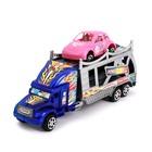 Грузовик инерционный «Автовоз», с машинкой, цвета МИКС - фото 105657987