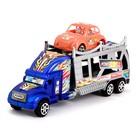 Грузовик инерционный «Автовоз», с машинкой, цвета МИКС - фото 105657990