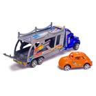 Грузовик инерционный «Автовоз», с машинкой, цвета МИКС - фото 105657993