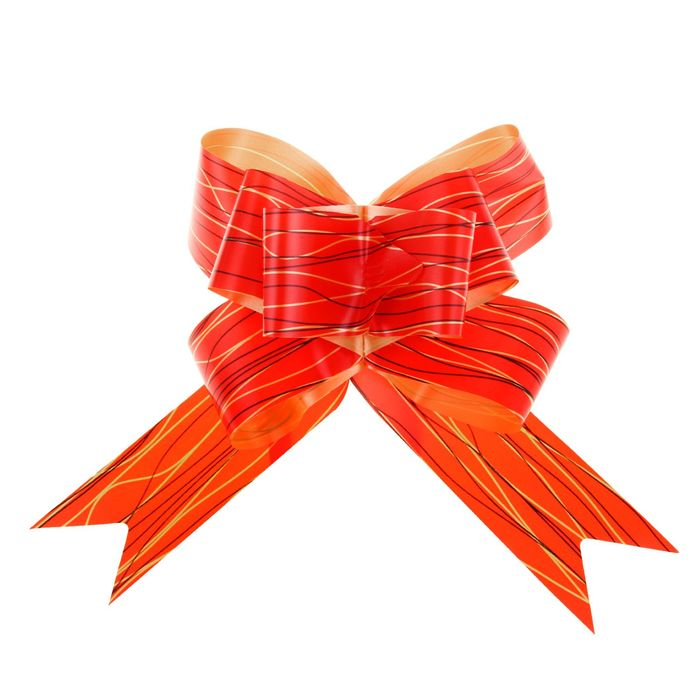 """Bow-butterfly No. 3 """"Lines"""", color: red"""