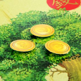 """Feng Shui painting """"Money tree augmenting income"""""""