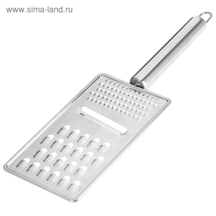 """Терка 14х8 см с ручкой """"Металлик"""" универсальная"""