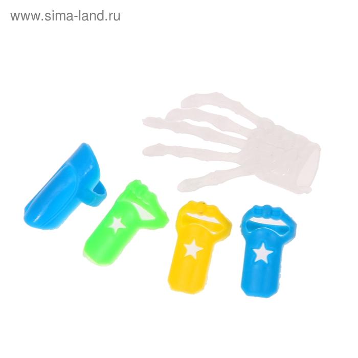 "Набор напальчников ""Ногти"" (набор 5 шт), цвета МИКС"