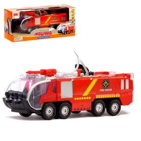Машина «Пожарная охрана», работает от батареек, световые и звуковые эффекты, стреляет водой