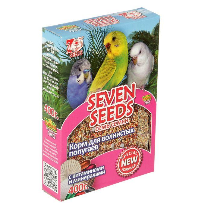 Корм Seven Seeds Special для волнистых попугаев, с витаминами и минералами, 400 г