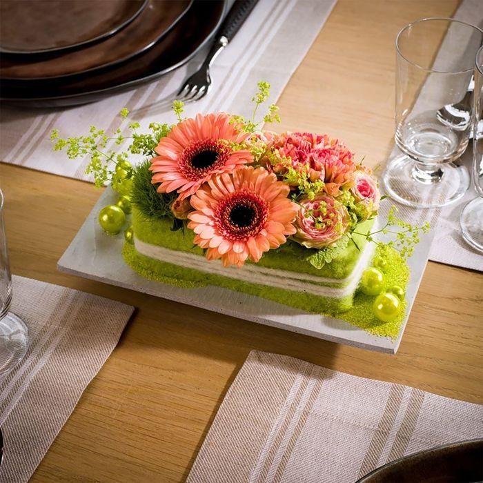 Купить цветы в флористической губке, букет