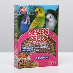 Корм Seven Seeds Special для волнистых попугаев, с орехом, 400 г