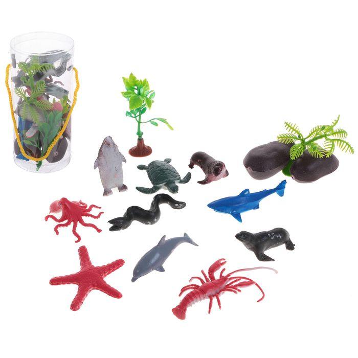 Набор животных «Морские обитатели», 10 фигурок с аксессуарами, МИКС