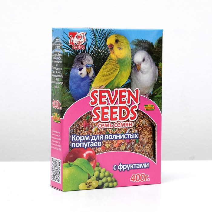 Seven Seeds Special food for budgies, 400 g.