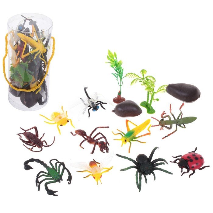 """Set of animals """"Insects"""", and 10 figures with accessories"""