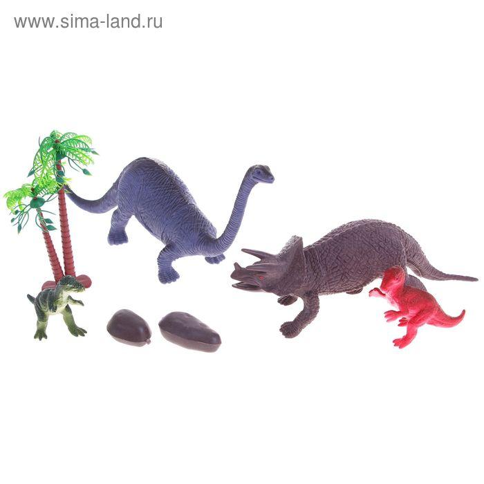 """Набор животных """"Динозавры"""" с аксессуарами, (набор 4 шт)"""