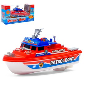 "Boat ""Patrol boat"", powered by batteries, color MIX."