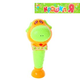 """Microphone musical """"Dog"""", light effect, adjustable volume, battery powered MIX color"""
